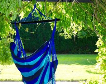 Hammock Chair; Hand woven 100% cotton