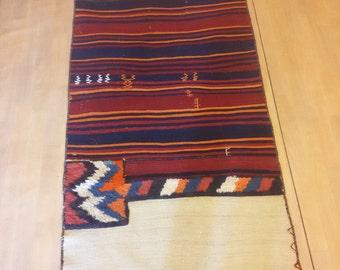 Vintage camel bag, pure wool handmade Turkish, 3x7 ft
