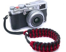 The 'Cordy Cat Duo' Paracord Camera Wrist Strap