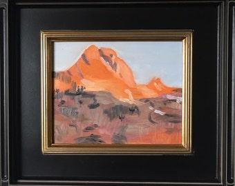 Original oil painting Utah mountain 8 x 10