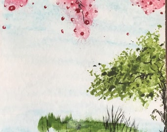 Pink Bees (Cherry Blossom tree)
