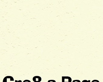Cre8-a-Page E-9 Handmade Pale Yellow Embossed Paper 12x12 Scrapbooking, 10 Sheets