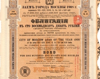 City of Moscow Loan 1908