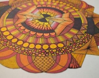 50/50 unique mandala drawing