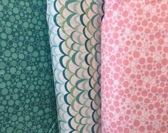 Coral Queen of the Sea Fabric