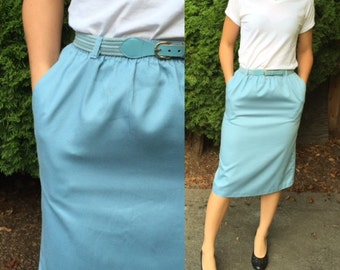 1980 Straight Blue Skirt