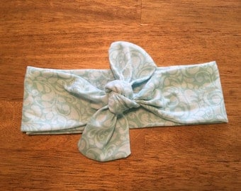 Mint Green Knotted Headwrap