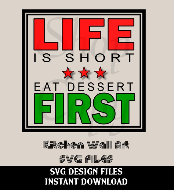 Funny Kitchen Wall Decal Sign SVG File For Silhouette Studio
