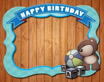 Baby Toys  themed party photo frame