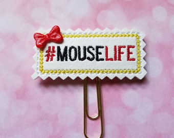 Mouse Life Planner Clip   Paperclip Bookmark    Bookmark    Paperclip   Planner Bookmark   Paperclip Bookmark   Planner Clips
