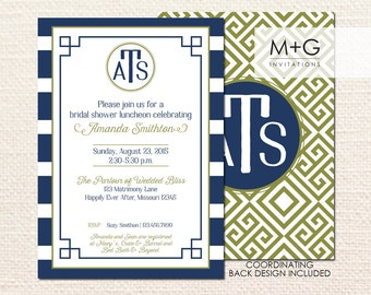 Greek Key Invitation: Digital Printable Invite