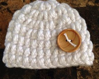White newborn baby hat, newborn hat, baby hat, hat, newborn, baby, crocheted hat, crochet hat, crochet baby hat, crochet, white