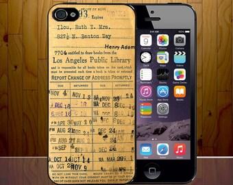 Vintage Library Lending Card LA Public Retro Novelty Phone Case Cover Z418