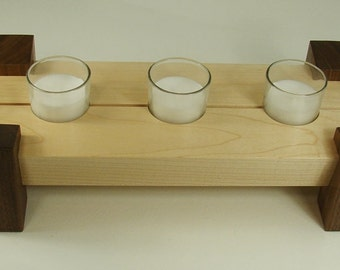 5-Candle Centerpiece - Rock Maple and Black Walnut
