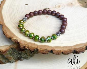 Multi-Colored Green Bracelet