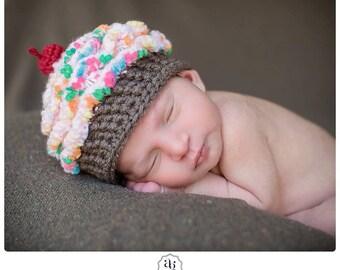Baby Cupcake Hat, MADE TO ORDER