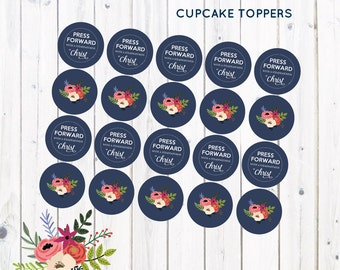 Young Women Cupcake Toppers