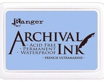 Ranger Archival Ink French Ultramarine - Blue Ink - Blue Archive Ink - Ranger Blue Ink - Permanent Blue Ink - Waterproof Ink