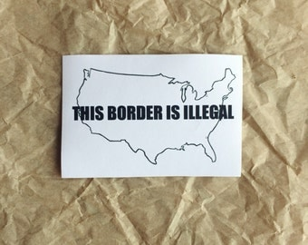 Pro-Immigration, Anti-Imperialist Sticker