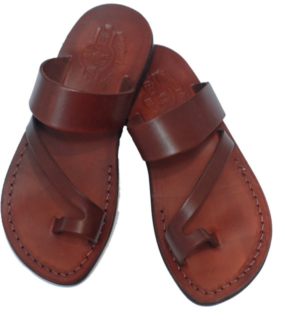 ea241a6985461 leather sandals | leather slippers women | leather sandals woman | brown  leather sandals | handmade sandals | Greek shoes Jesus sandals