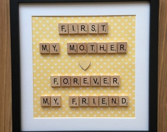 Scrabble frame - Mother's Day (small)