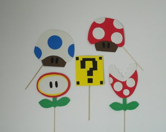 Mario Bros Photo Booth Props