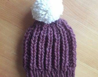 Brioche Stitch Beanie Hat