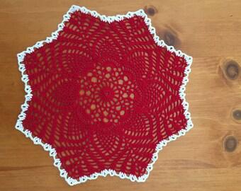 Crocheted Christmas Doily