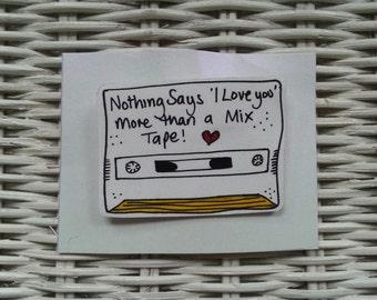 Retro Mix Tape Cassette Brooch