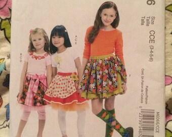 McCalls sewing pattern 6066 girls skirts
