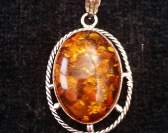 Amber Pendant!- Huge and Gorgeous!!