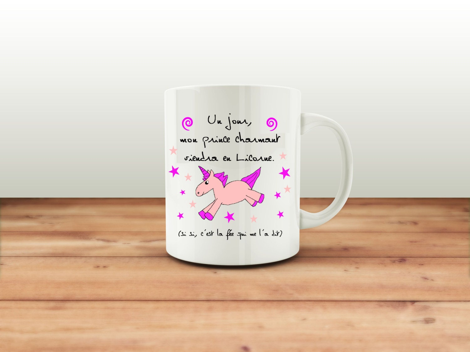 mug mon prince charmant licorne tasse a caf tasse a th. Black Bedroom Furniture Sets. Home Design Ideas