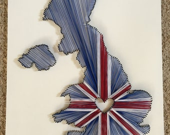 United Kingdom String Art with Union Jack