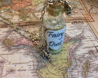 Fairy Dust Glass Bottle Pendant