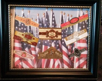 "Cigar Label Collage Man Cave Special, Limited Edition 8"" x 10"""
