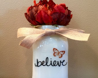 Believe Upcycled Jar