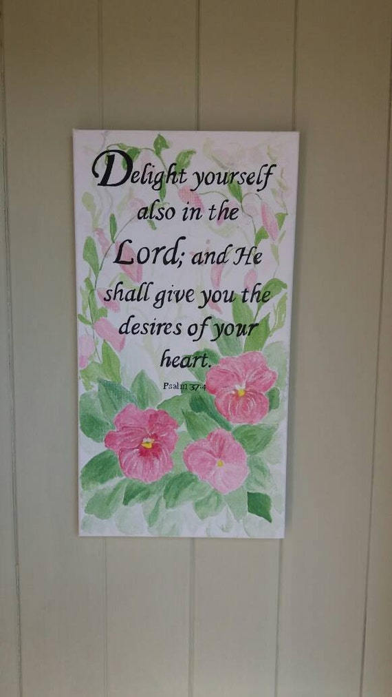 Delight in the Lord canvas