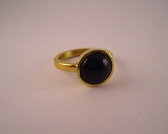 brass ring- onix,ring, handmade ring,onix,brass ring, blackstone ring,lady's ring,girl's ring,gift,present,made in italy,