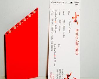 Handmade/Boarding pass invitation