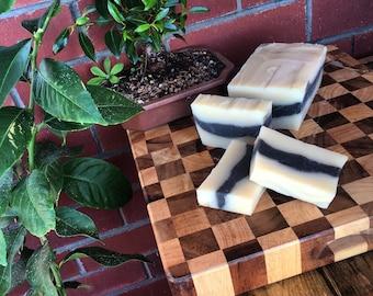 soap loaf slices, coconut white tea ginger