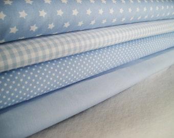 Light blue fabric package 4 substances 50 x 145 cm