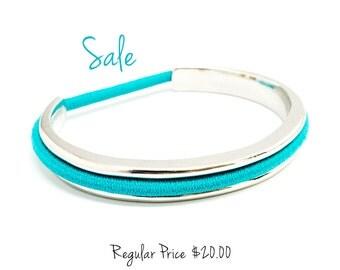 Sale - Hair Tie Bracelet, Hair Tie Bracelet Cuff, Hair Band Bracelet in MHTB SILVER hair tie holder
