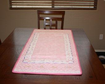 Baby Girl Pink Dresser Runner