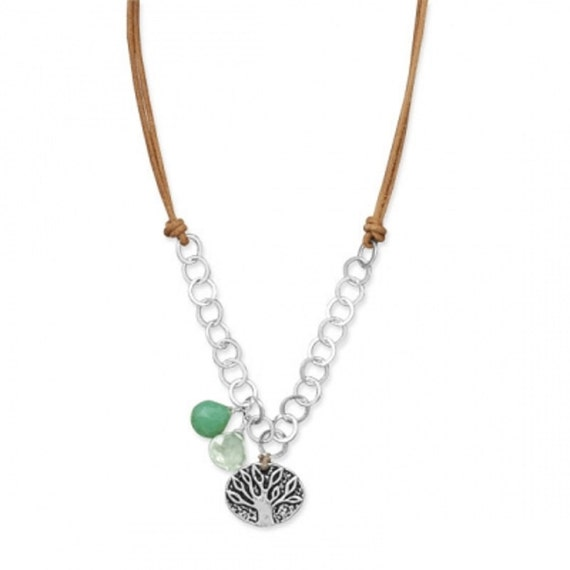 Tree Charm Necklace .925 this is so cute