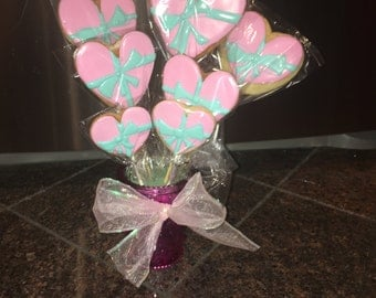 Tiffany Bow Cookie Bouquet