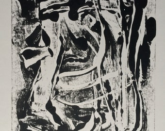 Original Black and White Abstract Print