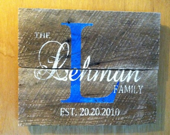 Custom Family Signs