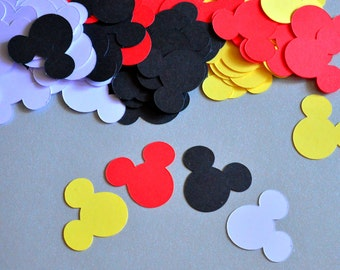 Minnie Mouse Confetti Baby First Birthday Minnie Birthday Party Decorations Mickey Mouse Birthday Die Cuts Minnie Mouse Mickey Party
