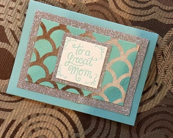 Mother's Day Card- Blue