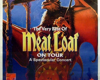 Meat Loaf 40x60 (The Very Best Of) Giant Subway Poster Bat Out Of Hell